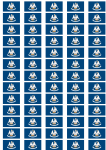 Louisiana Flag Stickers - 65 per sheet